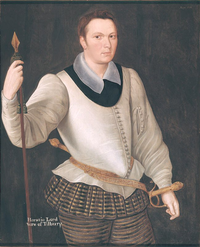 Lord Horace Vere brother to Sir Francis Vere and Cousin to 17th Earl of Oxford